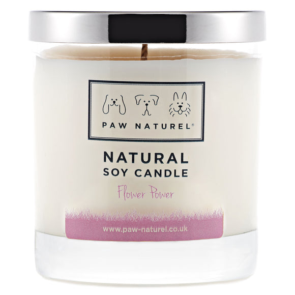 Flower power natural soy candle