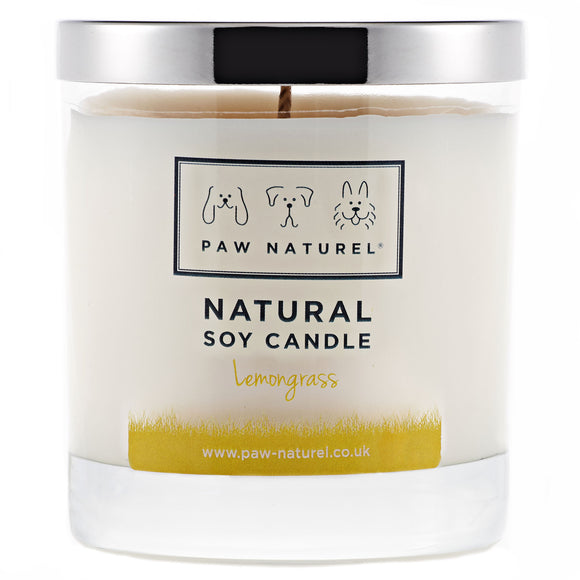 Lemongrass natural soy candle