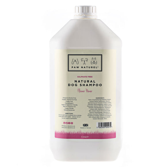 Flower Power Natural Dog Shampoo 5 Litre
