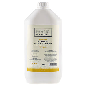 Lemongrass Natural Dog Shampoo 5 Litre