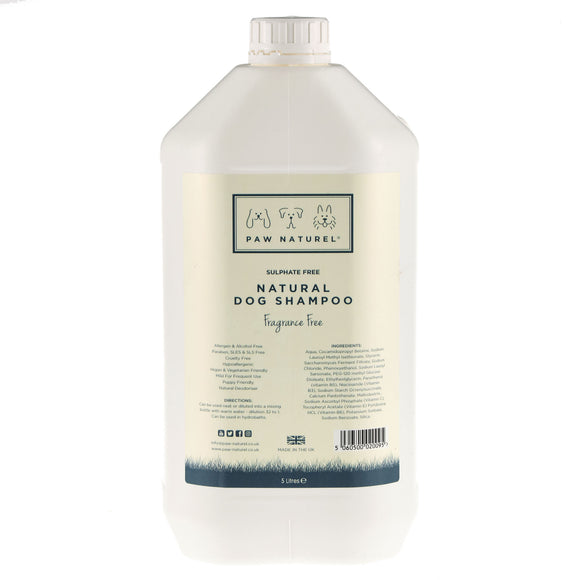 Original/Fragrance Free Natural Dog Shampoo 5 Litre