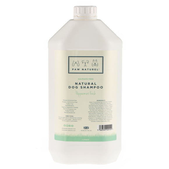 Peppermint Natural Dog Shampoo 5 Litre