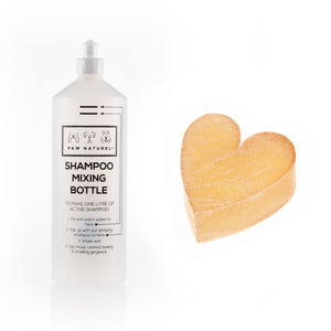 Rub & Scrub Heart shaped scrub + Mixing Bottle - Paw Naturel