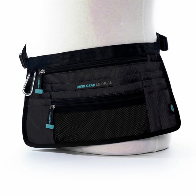 The Trustee-Anti-Microbial Medical Supply Organizer Belt Bag - Black in 2 sizes