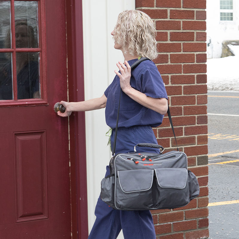 The Guardian 2.0 - Deluxe Anti-Microbial Medical Laptop Shoulder Bag