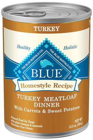 Blue Buffalo Homestyle Recipe Turkey Meatloaf Dinner With Carrots And Sweet Potatoes Canned Dog Food