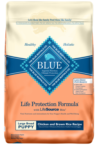 Blue Buffalo Life Protection Large Breed Puppy Chicken and Brown Rice Recipe Dry Dog Food