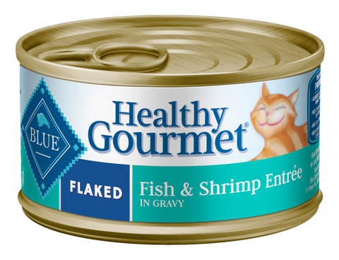 Blue Buffalo BLUE Healthy Gourmet Flaked Fish and Shrimp Entree Canned Cat Food
