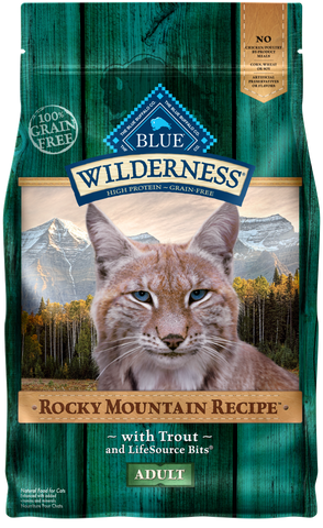 Blue Buffalo BLUE Wilderness Rocky Mountain Recipe Adult Grain Free Trout Dry Cat Food