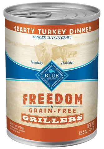 Blue Buffalo BLUE Freedom Grain Free Grillers Hearty Turkey Dinner Canned Dog Food