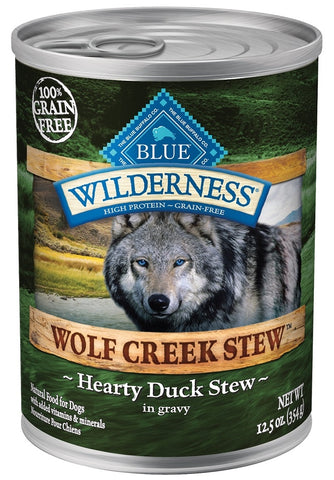 Blue Buffalo BLUE Wilderness Wolf Creek Stew Hearty Duck Stew Canned Dog Food