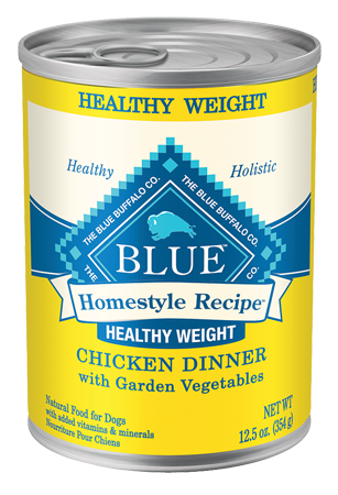 Blue Buffalo BLUE Homestyle Recipe Healthy Weight Chicken Dinner with Garden Vegetables Canned Dog Food