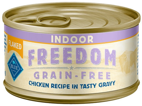 Blue Buffalo BLUE Freedom Grain Free Indoor Flaked Chicken Recipe Canned Cat Food
