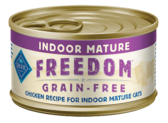 Blue Buffalo BLUE Freedom Grain Free Indoor Mature Chicken Recipe Canned Cat Food