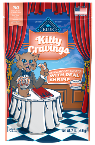 Blue Buffalo Kitty Cravings Shrimp Crunchy Cat Treats