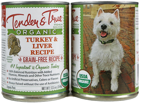 Tender & True Grain Free Organic Turkey and Liver Recipe Canned Dog Food