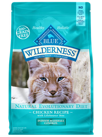 Blue Buffalo BLUE Wilderness Adult Indoor Hairball Grain-Free Chicken Dry Cat Food