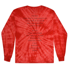 HIStory 25 Red TieDye L/S T-Shirt