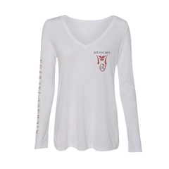 HIStory 25 Women's White L/S T-Shirt