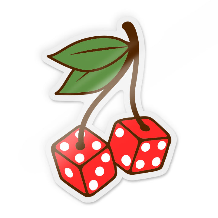 Cherry Dice Sticker