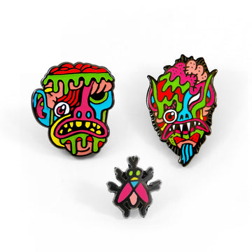 Caves Goblins Pin Set - Tough Times