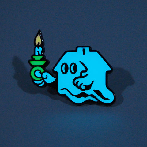 Ghost House (Blue) Pin