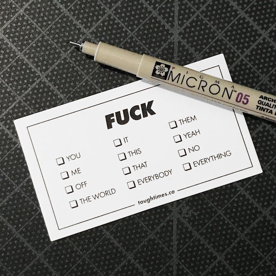 Fuck Everything Card Set