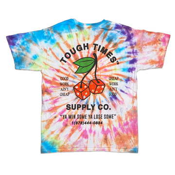 Tie Dye Cherry Dice T-Shirt 1