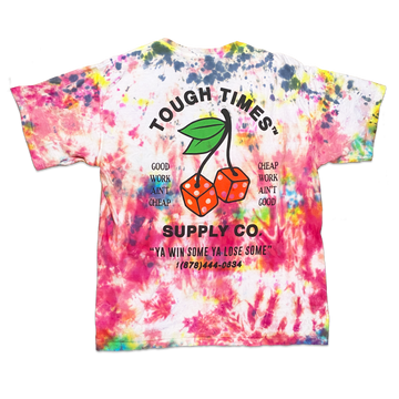 Tie Dye Cherry Dice T-Shirt 4
