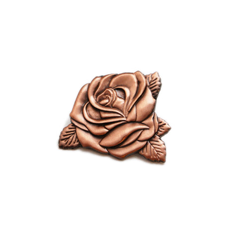 Rose Gold Rose Pin
