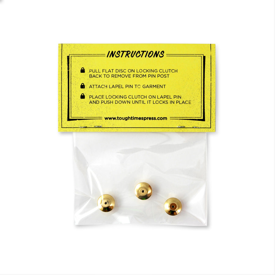 Gold Locking Pin Keepers (3-Pack) - Tough Times