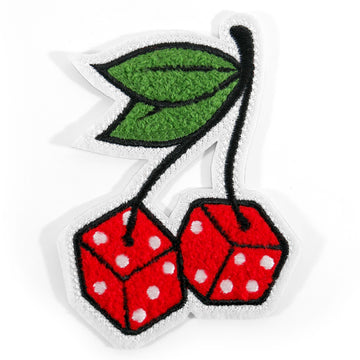 Cherry Dice Chenille Patch - Tough Times