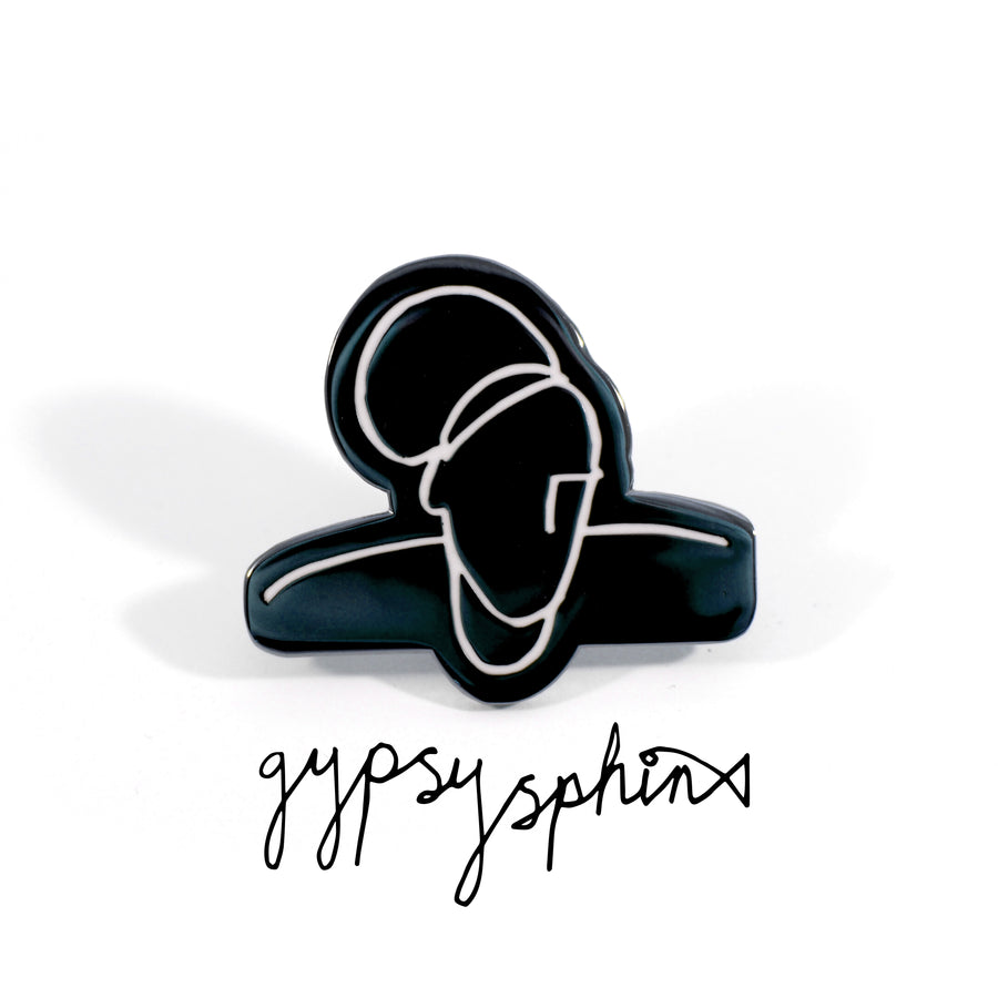 Gypsy Sphinx Pin Black - Tough Times
