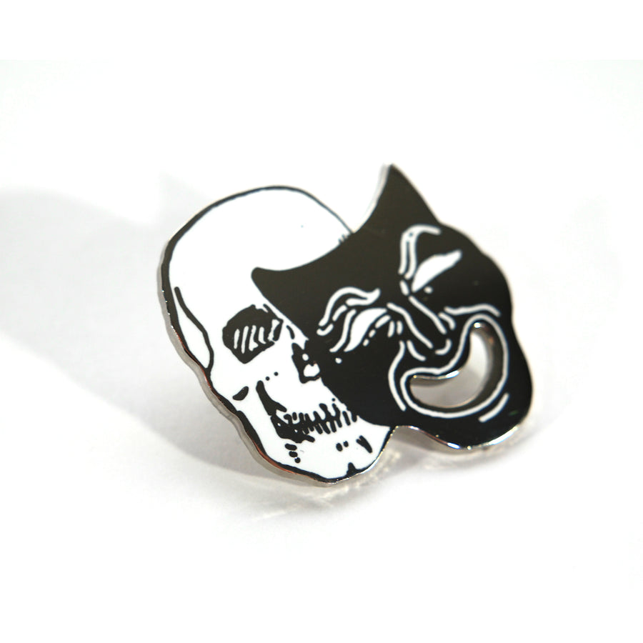 Laugh Forever Mask Pin