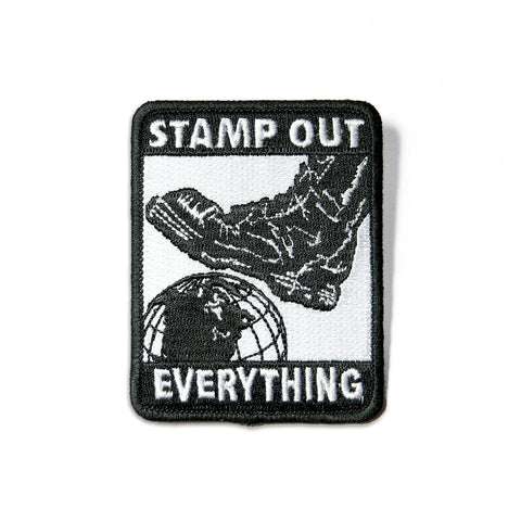 Stamp Out Everything B/W Patch