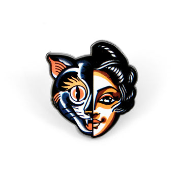 Cat/Woman Pin
