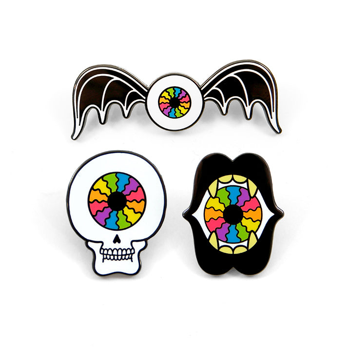 Rainbow Doom Squad Pin Set