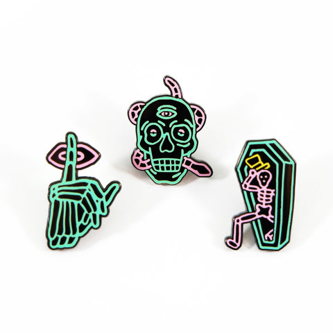 Zzizziland Neon Pin Set
