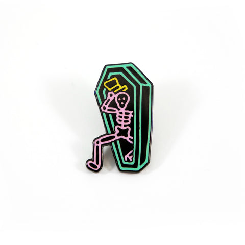 Neon Coffin Pin