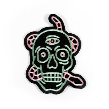 Neon Skull Patch
