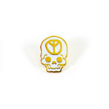 No Peace Gold Pin