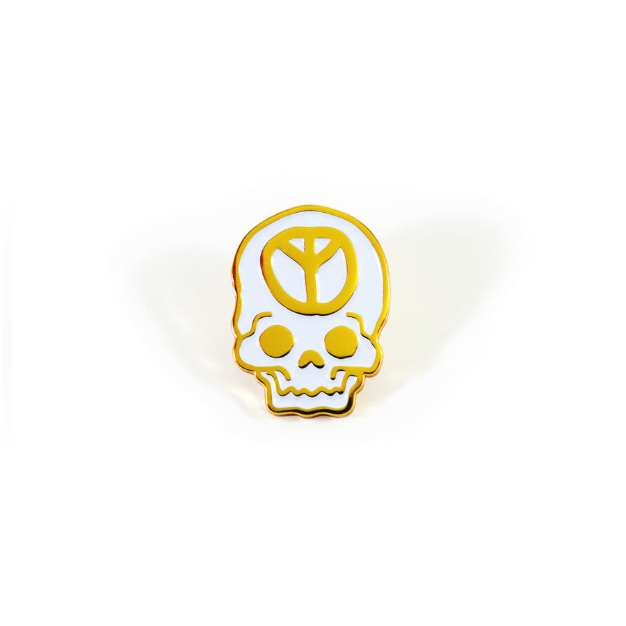 No Peace Gold Pin - Tough Times