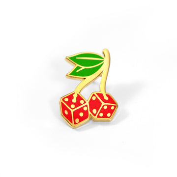Cherry Dice Pin - Tough Times
