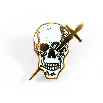 Skull & Dagger Pin - Tough Times