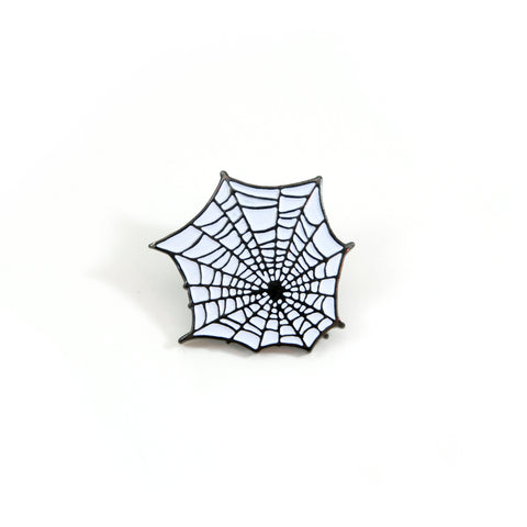 White Web Pin