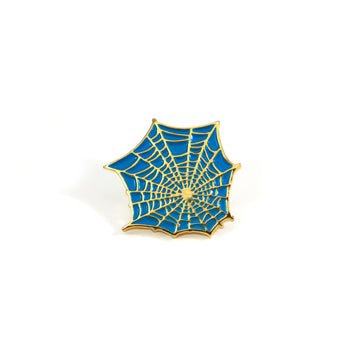 Teal Web Pin