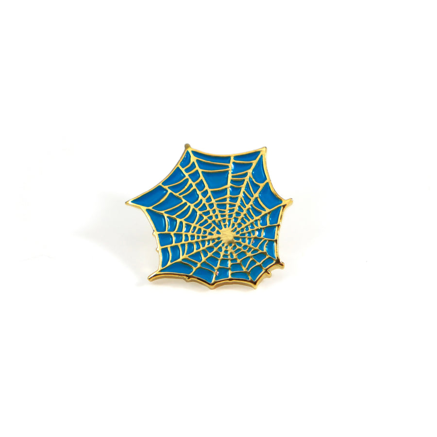 Teal Web Pin - Tough Times