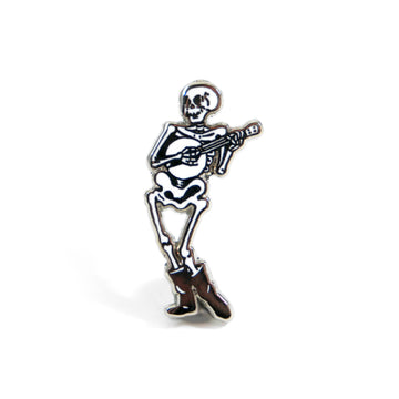 Banjo Skeleton Pin