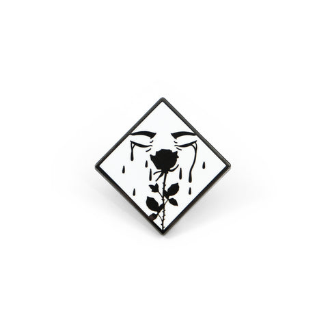 Jag Lever Crying Rose Pin