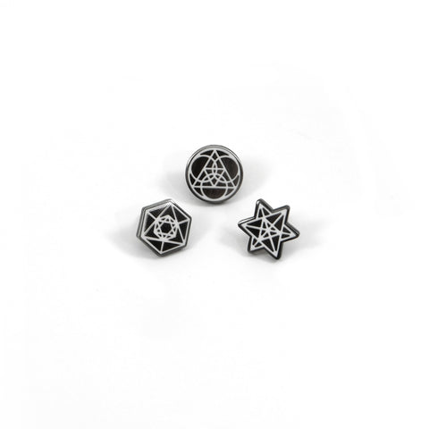 Jag Lever Sacred Geometry Pin Set